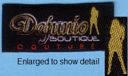 DamaskThread Material differences in Woven Labels , woven labels, clothing tags