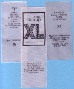 Printed Labels with RN 248x300 RN numbers on clothing labels , woven labels, clothing tags