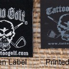 What's the difference between a woven label and a printed clothing label?