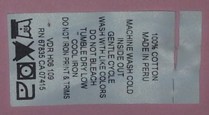 Woven label, clothing tag