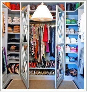 Closets offer examples of all types of clothing tags and labels
