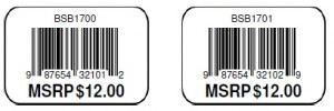 Stickers with consecutive UPC barcode