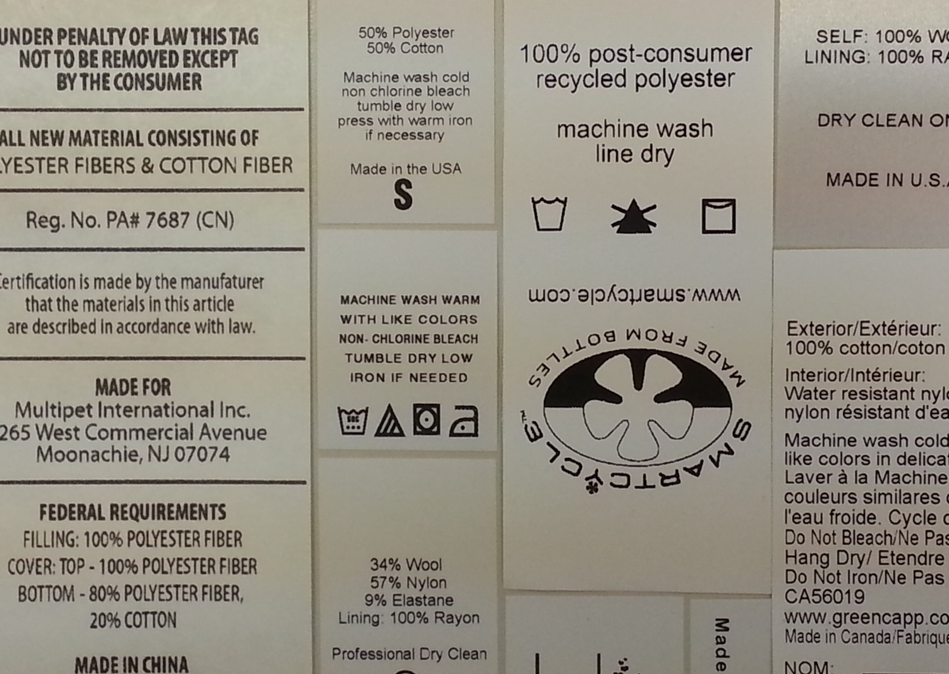 Clothing Label Requirements Under Textile Wool Acts