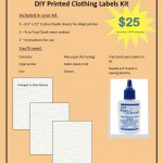 DIY Printed Clothing Labels Kit