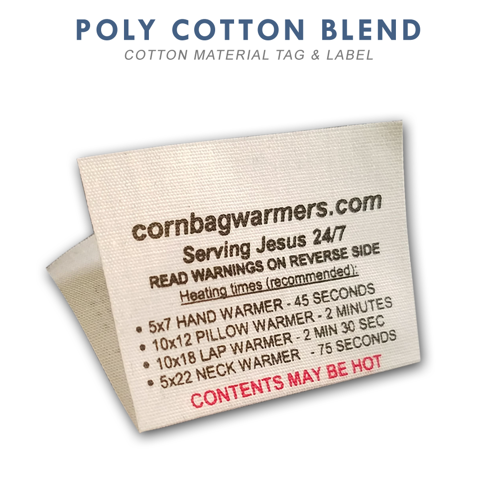 quality design 5c5d5 1087b Cotton Custom Printed Labels & Tags - Rapid Tag & Label
