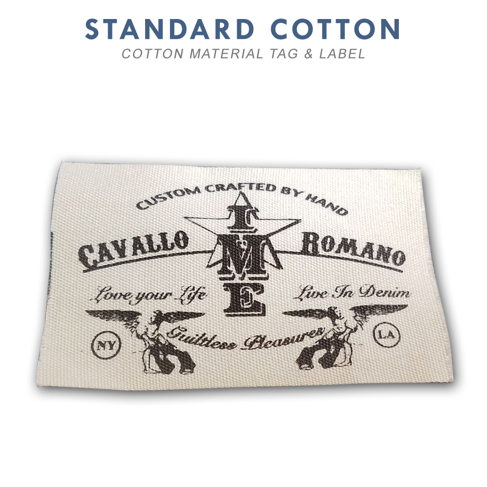 Cotton Custom Printed Labels & Tags - Rapid Tag & Label