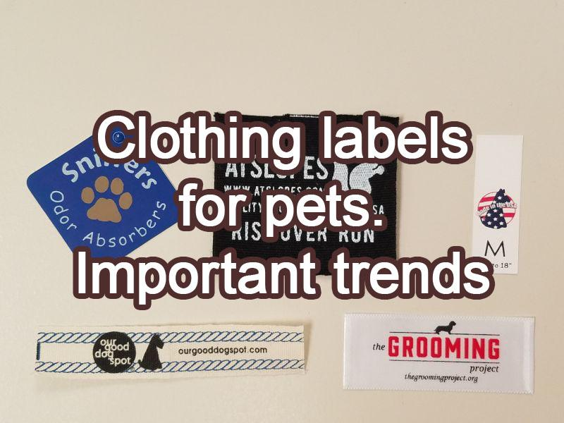 Clothing labels for pets