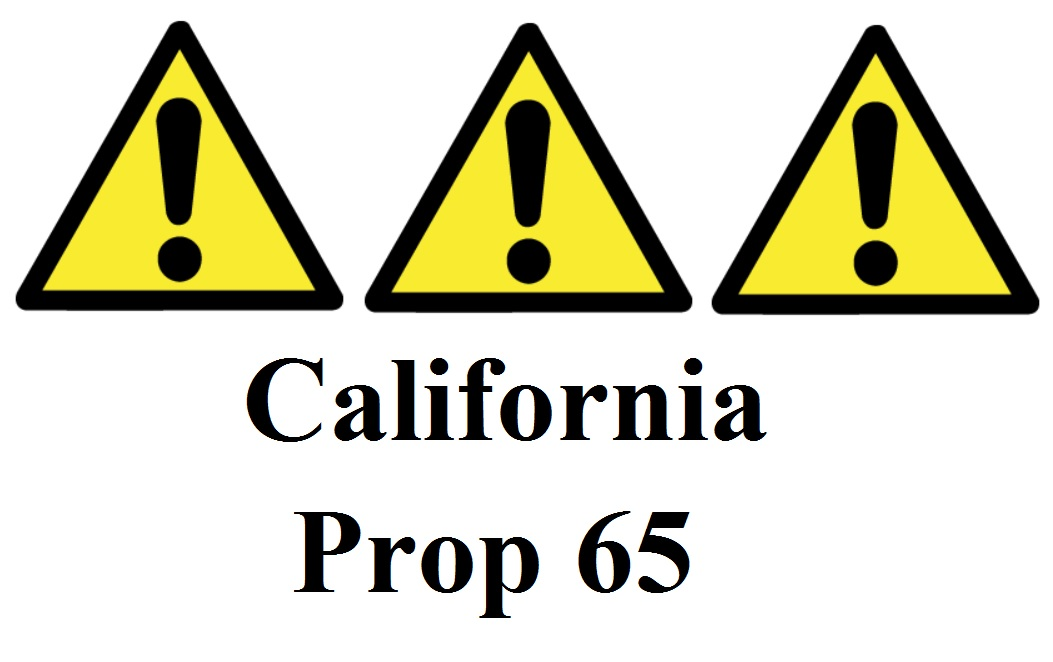 New California Prop 65 Warning Label Requirements