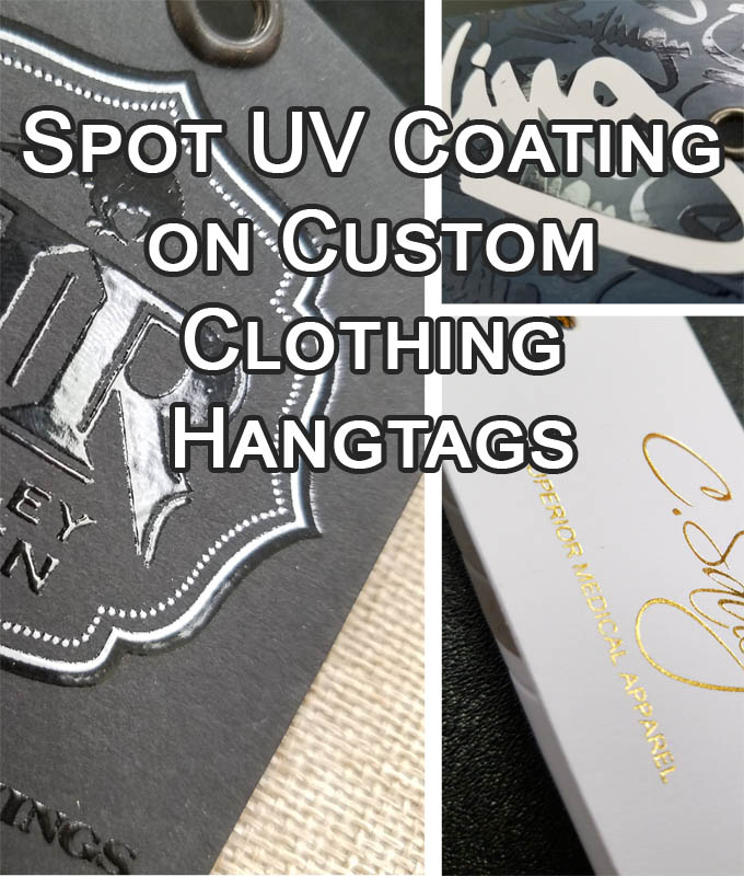 Spot UV Coating on Custom Clothing Hangtags