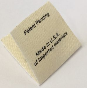 natural cotton printed label