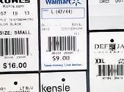 Retail price tags & labels